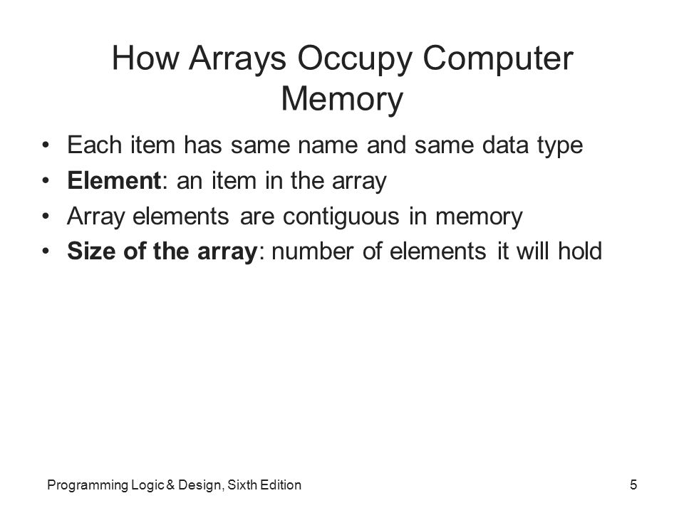 Searching an Array for a Range Match (continued) Drawbacks of first approach –Requires very large array; uses a lot of memory –Stores same value repeatedly –How do you know you have enough elements.