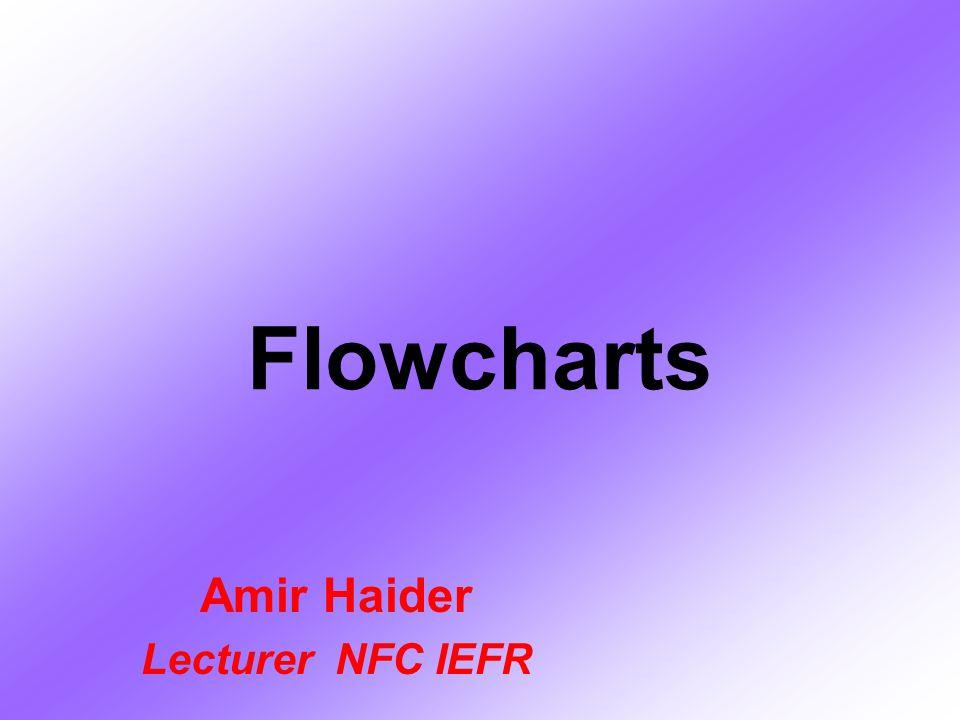 Flowcharts Amir Haider Lecturer NFC IEFR