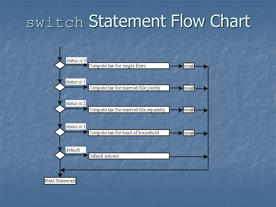switch Statement Flow Chart
