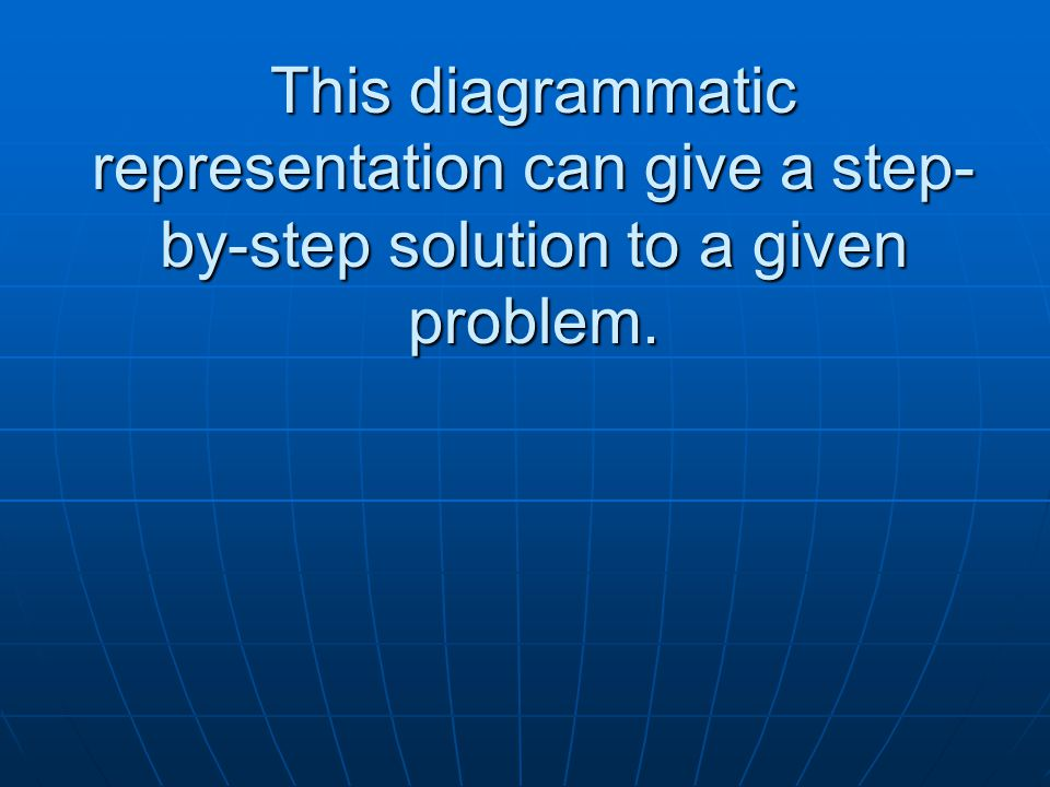 This diagrammatic representation can give a step- by-step solution to a given problem.