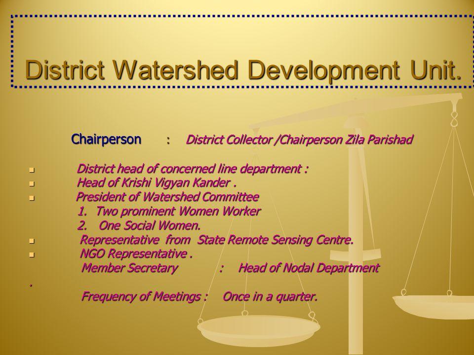 District Watershed Development Unit.