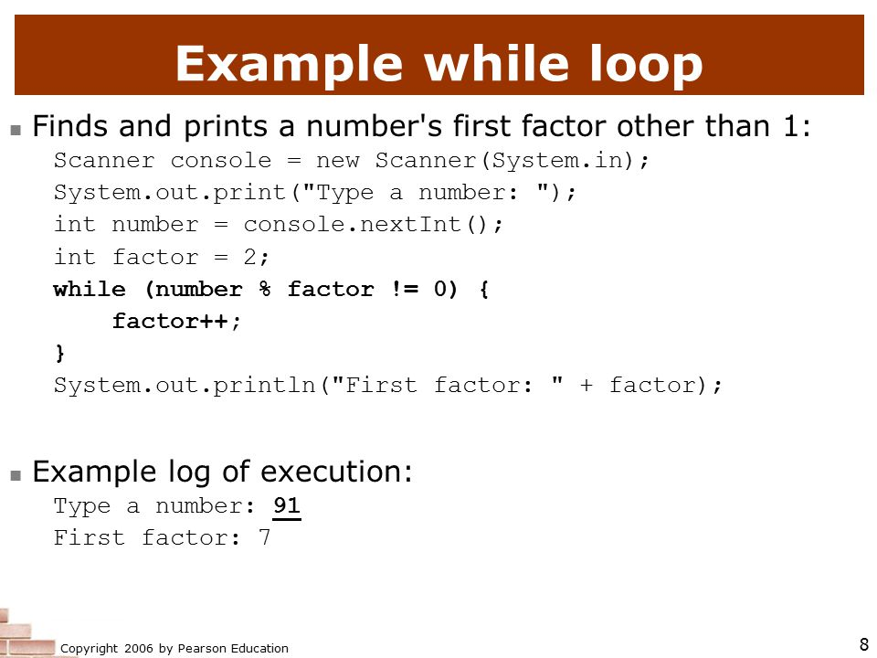 Copyright 2006 by Pearson Education 39 do/while question Modify the previous dice program to use a do/while loop.