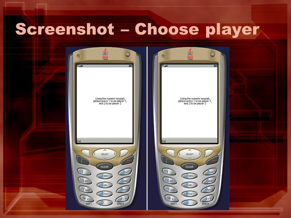 Screenshot – Choose player