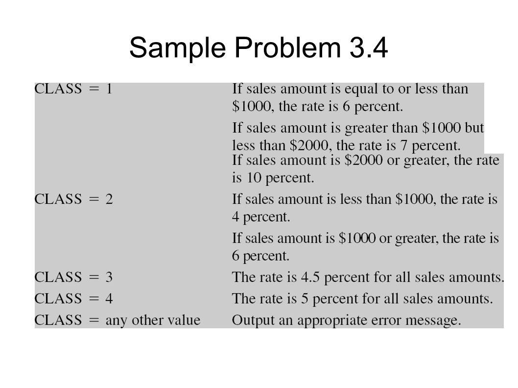 Sample Problem 3.4