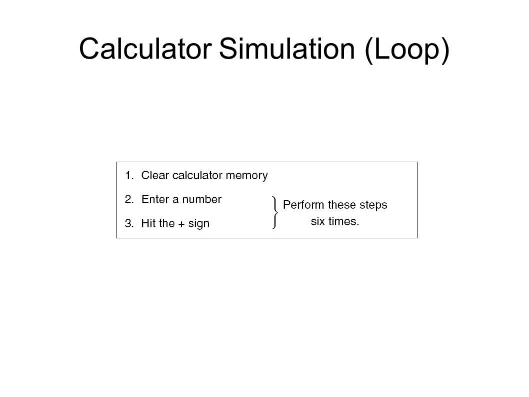 Calculator Simulation (Loop)