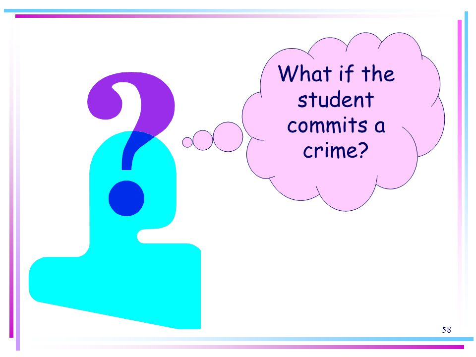 58 What if the student commits a crime?