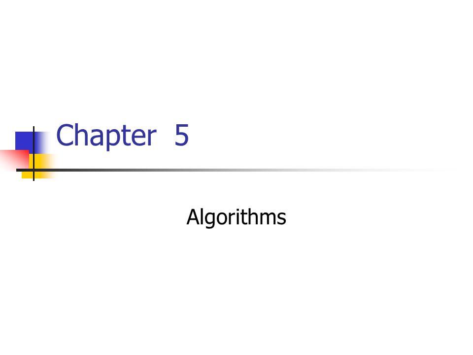 Chapter 5 Algorithms