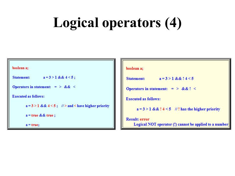 Logical operators (4)