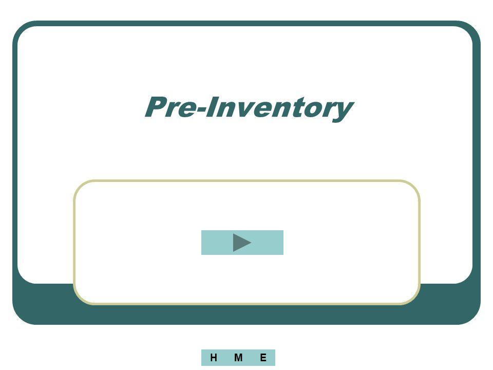 Pre-Inventory MEH
