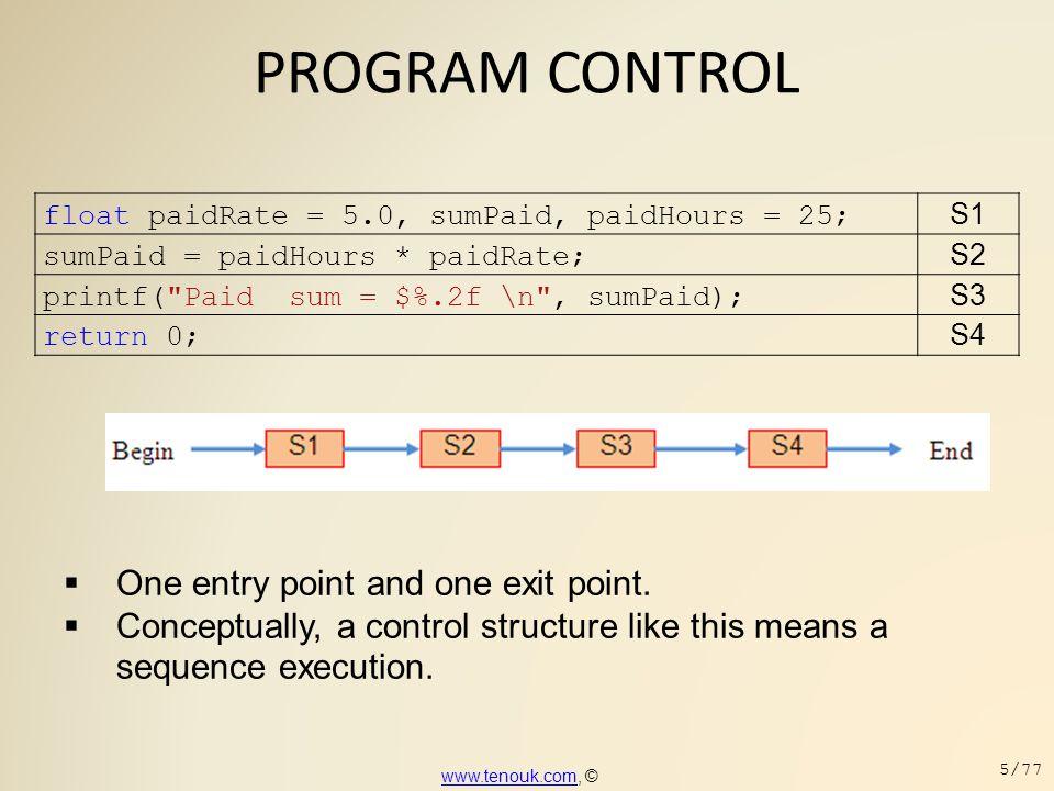 PROGRAM CONTROL  The EOF program example.