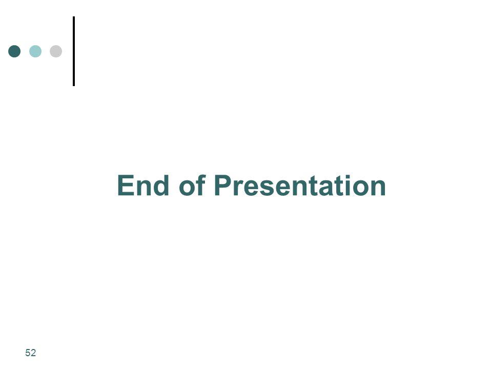 52 End of Presentation