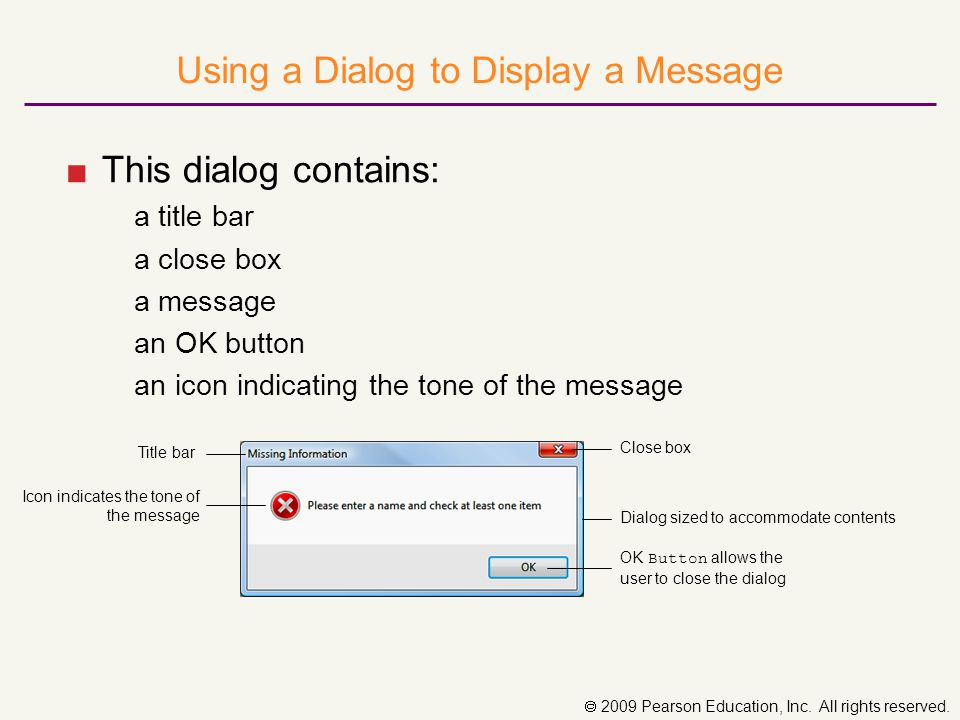 Using Radio Buttons in an Interface ■Radio button control: allows the user to select only one of a group of two or more choices ■Radio button choices are related but mutually exclusive; only one can be selected ■Container control: ■Isolates a group of radio buttons ■Includes GroupBox, Panel, and TableLayout controls