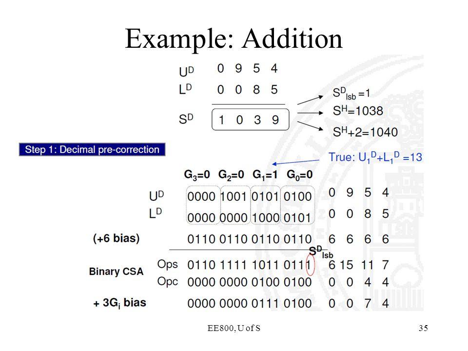 EE800, U of S35 Example: Addition