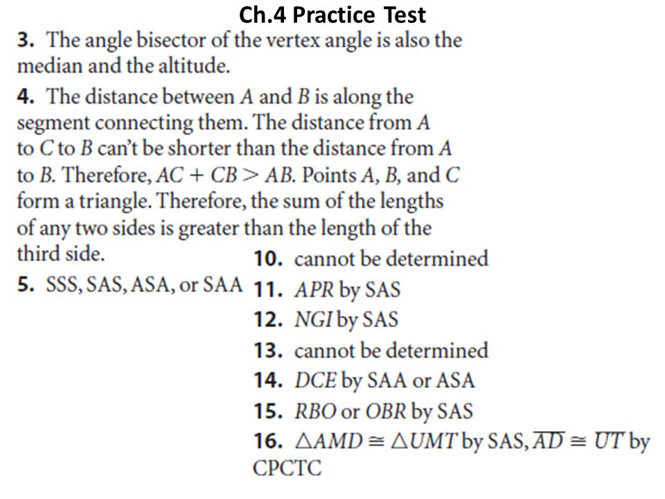 Ch.4 Practice Test