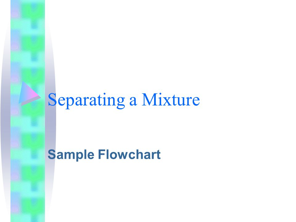 Separating a Mixture Sample Flowchart