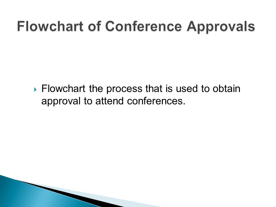  Flowchart the process that is used to obtain approval to attend conferences.