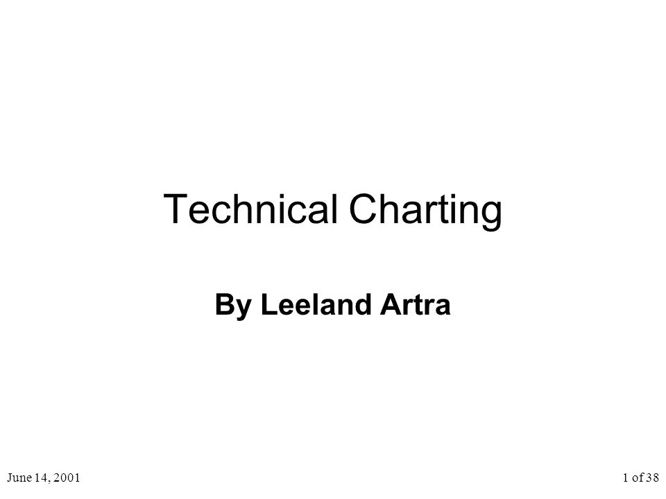 June 14, 20011 of 38 Technical Charting By Leeland Artra