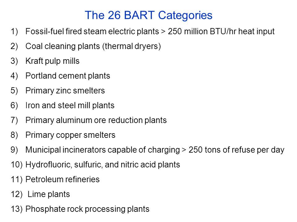 Presumptive controls for >200 MW EGUs SO2: 95 % control or 0.15 lbs/MMBtu.