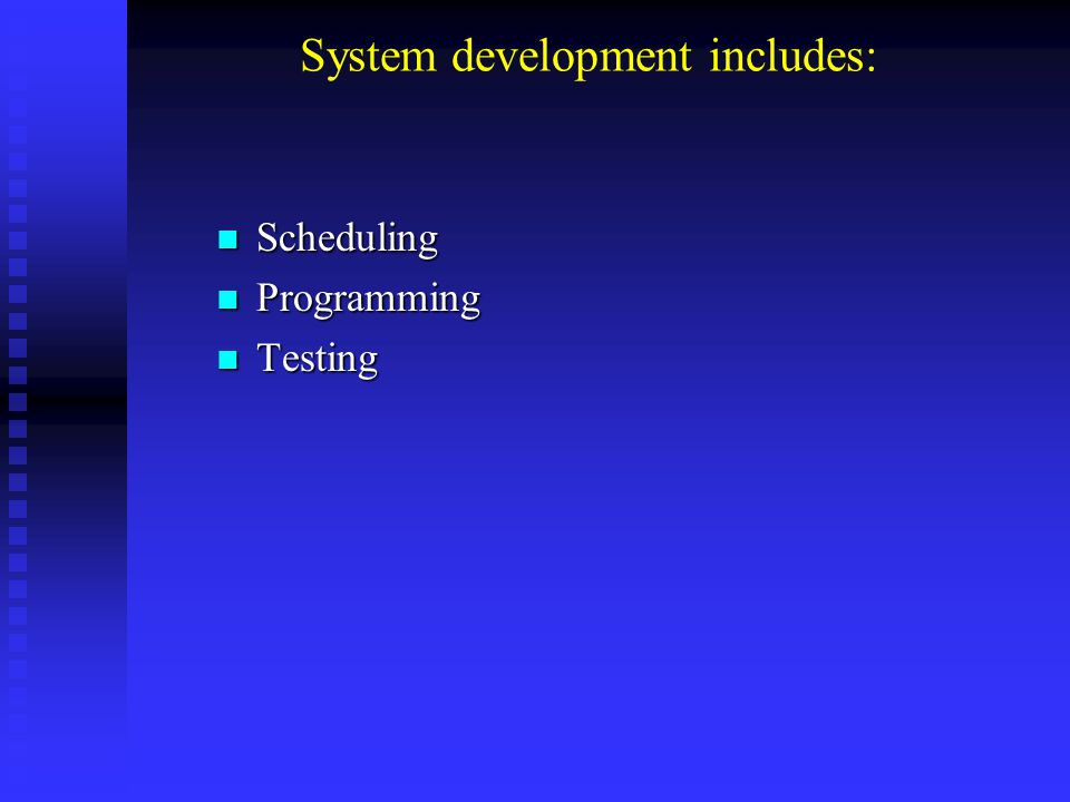 Equipment Conversion Implementing a system requires that consideration has been given to how best to convert to the new system.