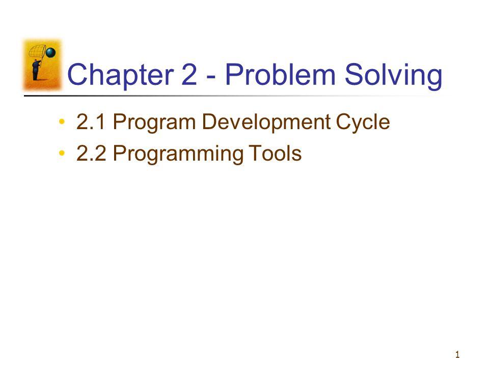 1 Chapter 2 - Problem Solving 2.1 Program Development Cycle 2.2 Programming Tools