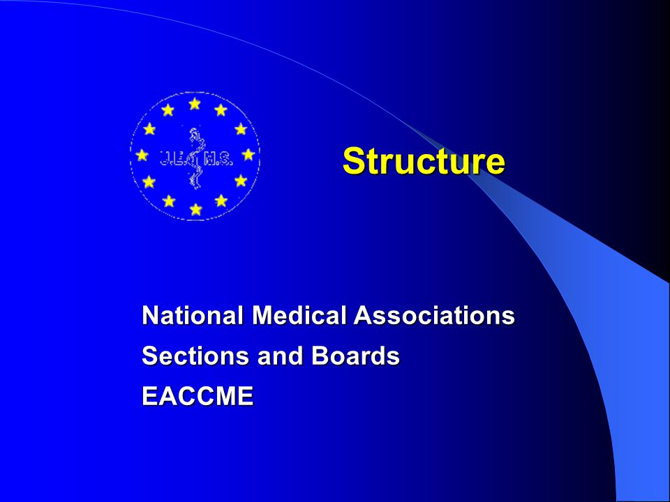 National Medical Associations Are represented in the Management Council Determine the Policy of the UEMS Can adopt or endorse documents presented by other organs of the UEMS to be distributed on to the National Medical Associations For Italy : FNOMCeO