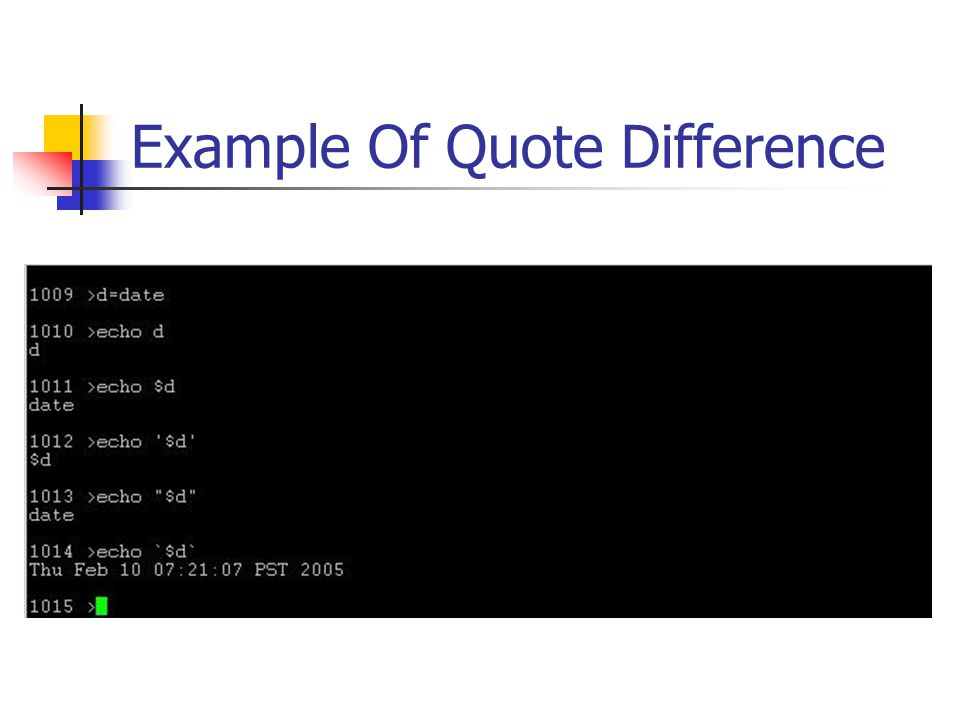 Example Of Quote Difference