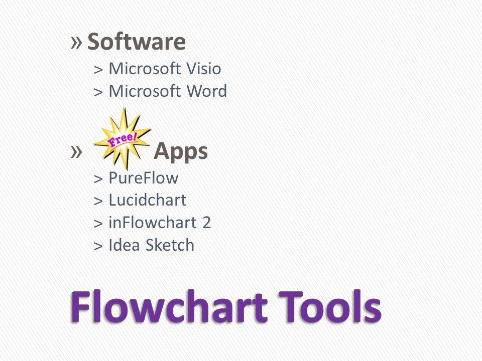 » Software ˃Microsoft Visio ˃Microsoft Word » Apps ˃PureFlow ˃Lucidchart ˃inFlowchart 2 ˃Idea Sketch
