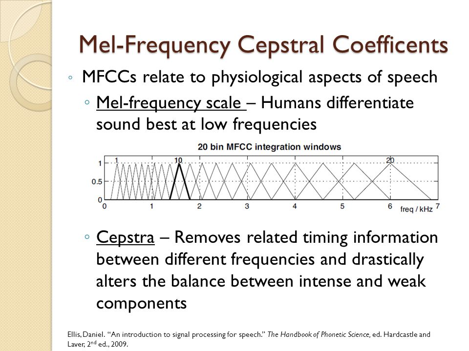 Feature Extraction  Mel-frequency cepstral coefficients (MFCCs) are used as the features  Voice Activity Detector (VAD) used to remove silent frames