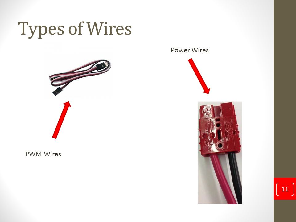 Types of Wires 11 PWM Wires Power Wires