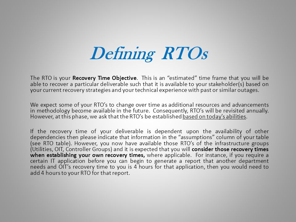 Who is developing RTO's.