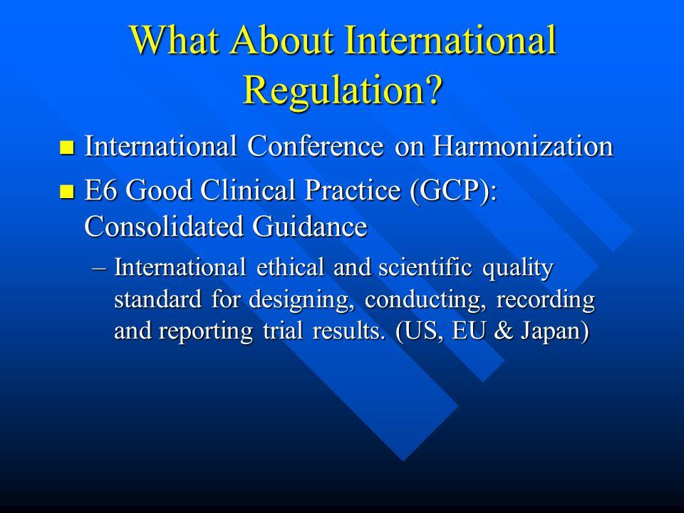 What About International Regulation.