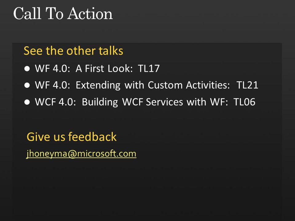 Give us feedback jhoneyma@microsoft.com