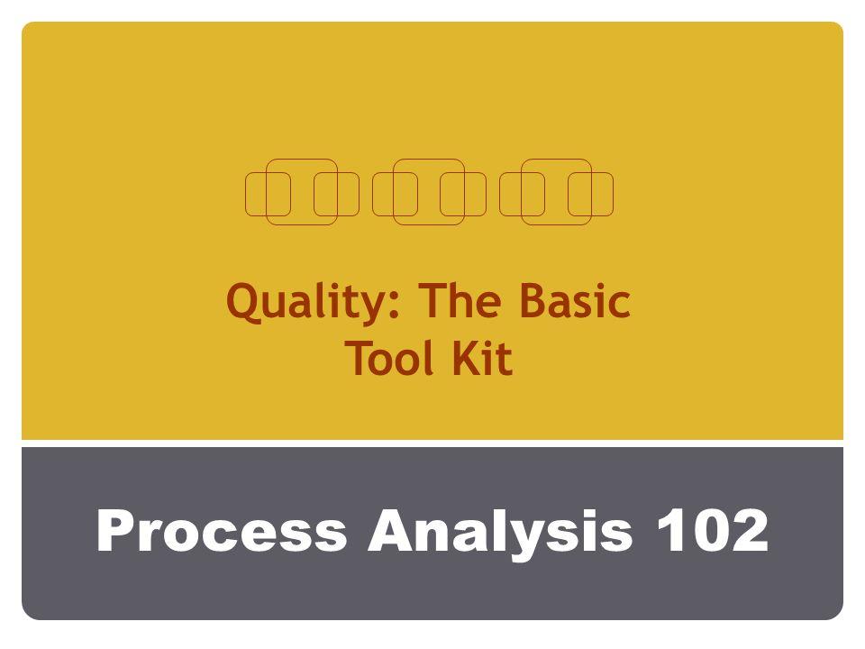Process Analysis 102 Quality: The Basic Tool Kit
