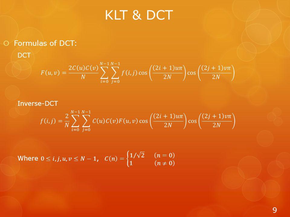 9 KLT & DCT