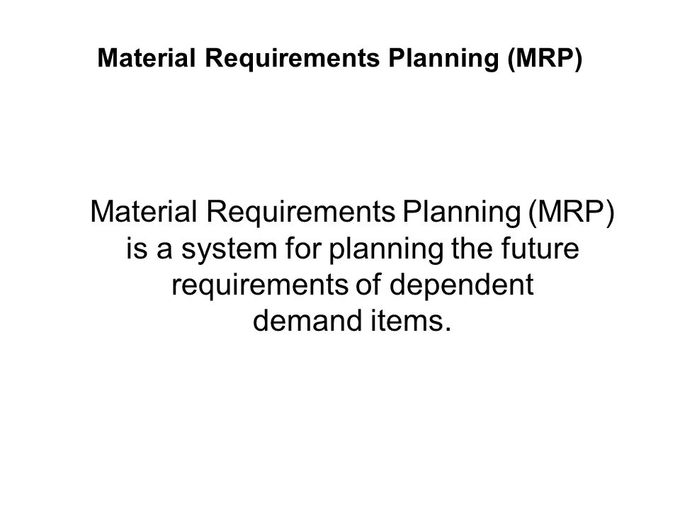 Capacity Requirement Planning Capacity Requirement Planning is a techniques for determining what labour/personnel and equipment capacities are needed to meet the production objectives.