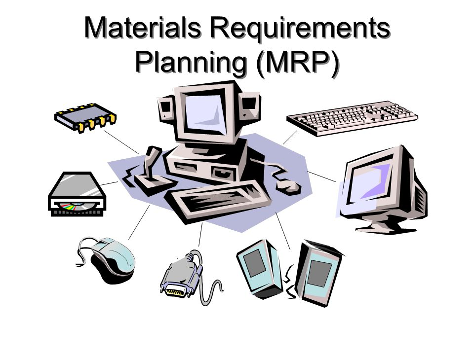 Production Planning Hierarchy Firm orders from known customers Forecast of demand from random customers Aggregate Product Plan Master Production Schedule (MPS) Material Requirements Planning (MRP) Engineering design changes Bill of Materials (BOM) file Inventory transactions Inventory records file Reports