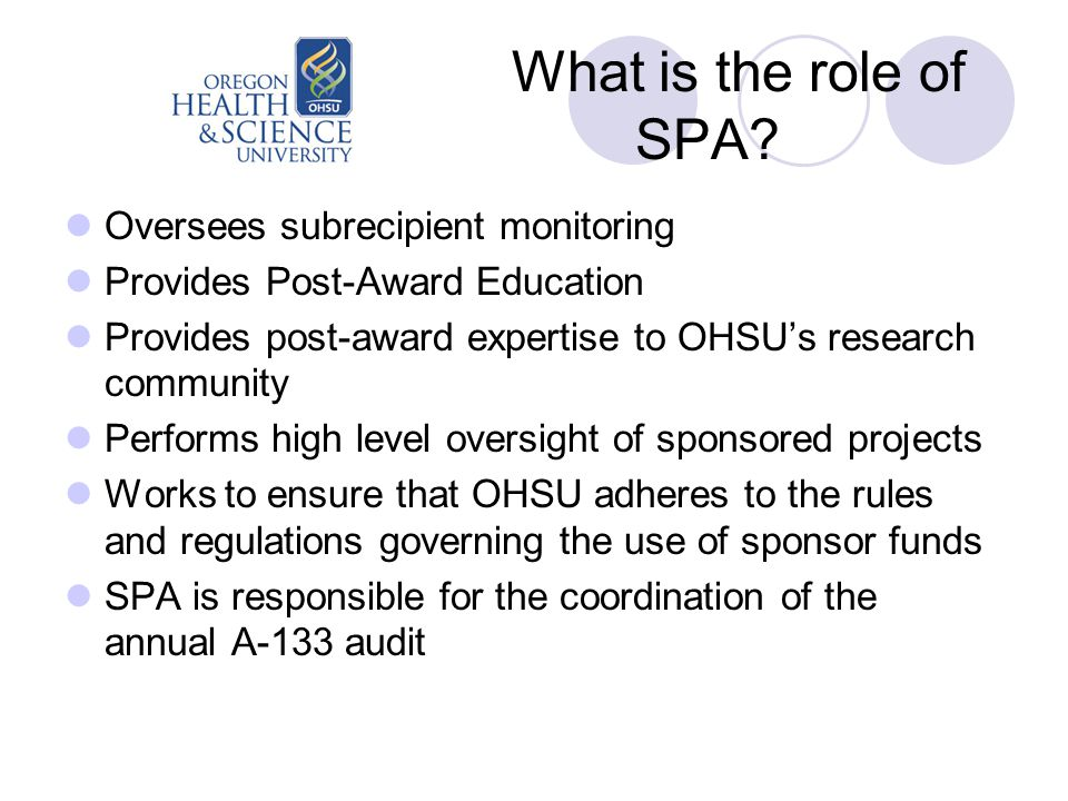 What is the role of SPA.