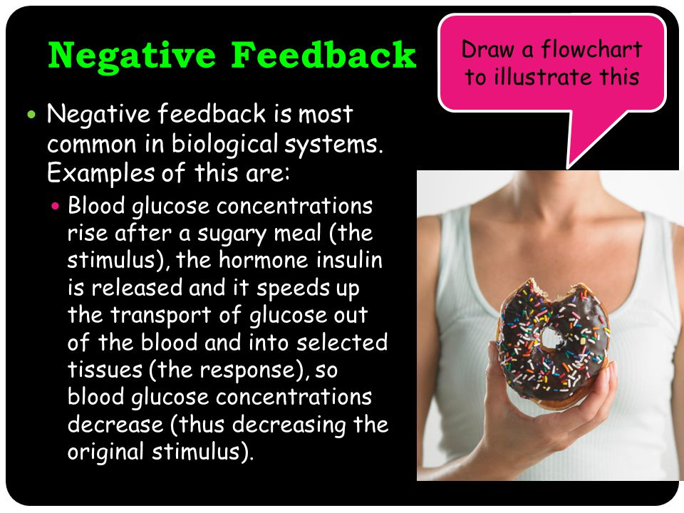 Negative Feedback Negative feedback is most common in biological systems.