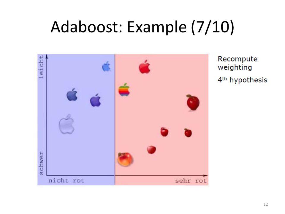 Adaboost: Example (7/10) 12