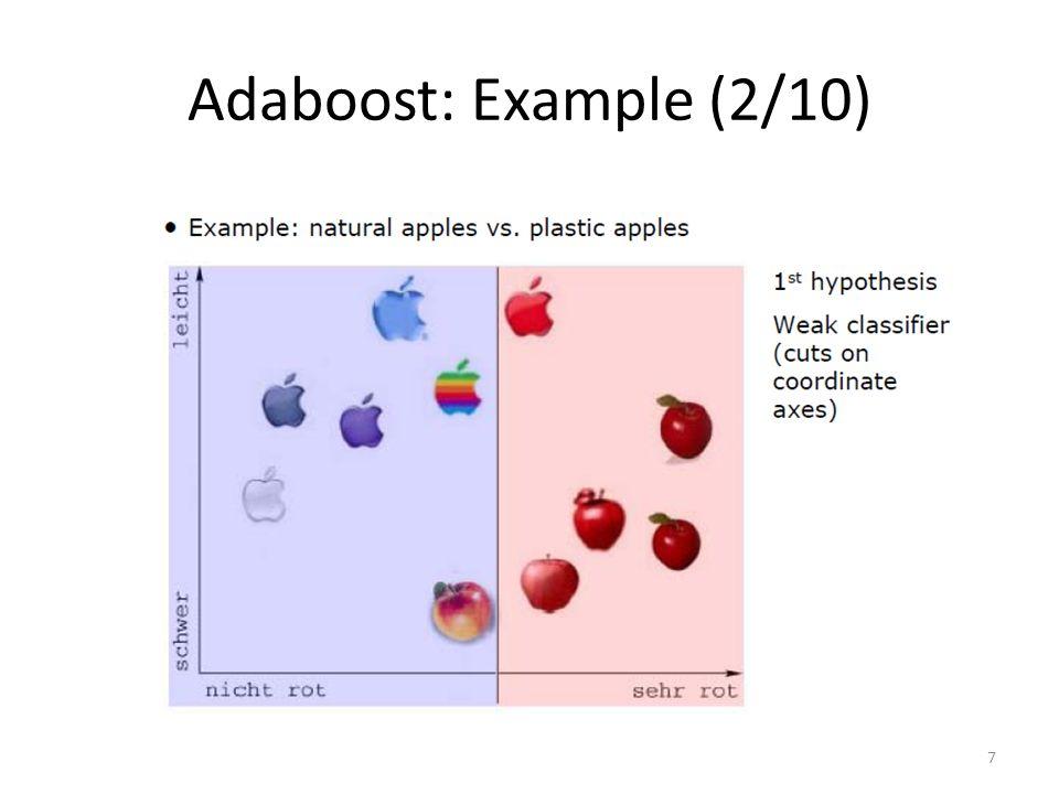 Adaboost: Example (2/10) 7
