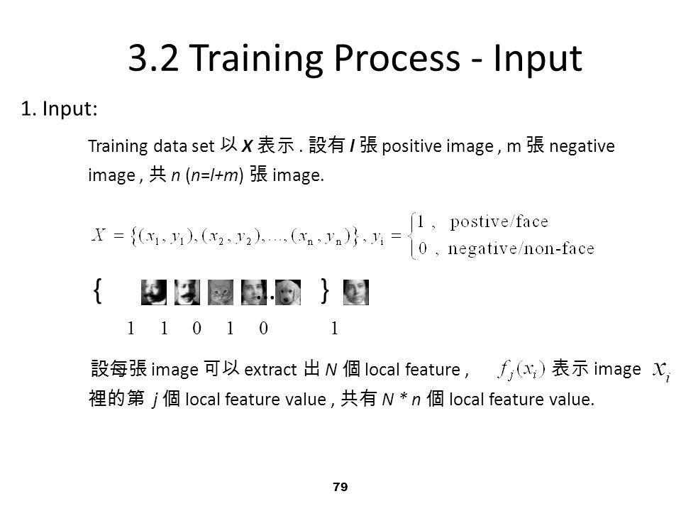 79 1.Input: Training data set 以 X 表示.