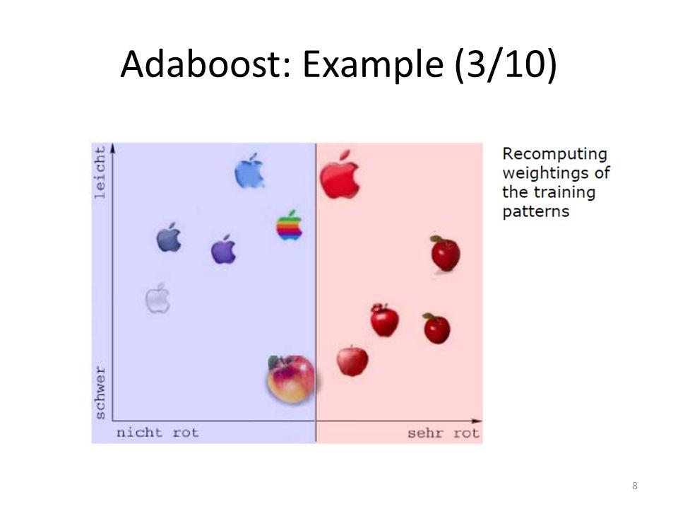 Adaboost: Example (3/10) 8