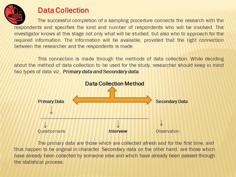 Sampling procedure in research paper