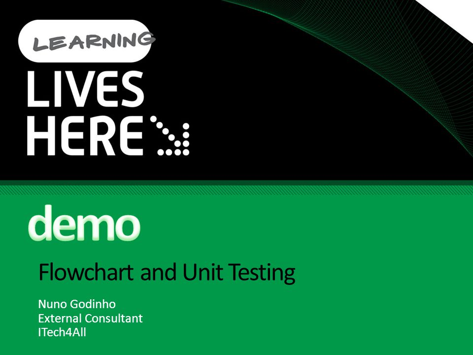 Flowchart and Unit Testing Nuno Godinho External Consultant ITech4All