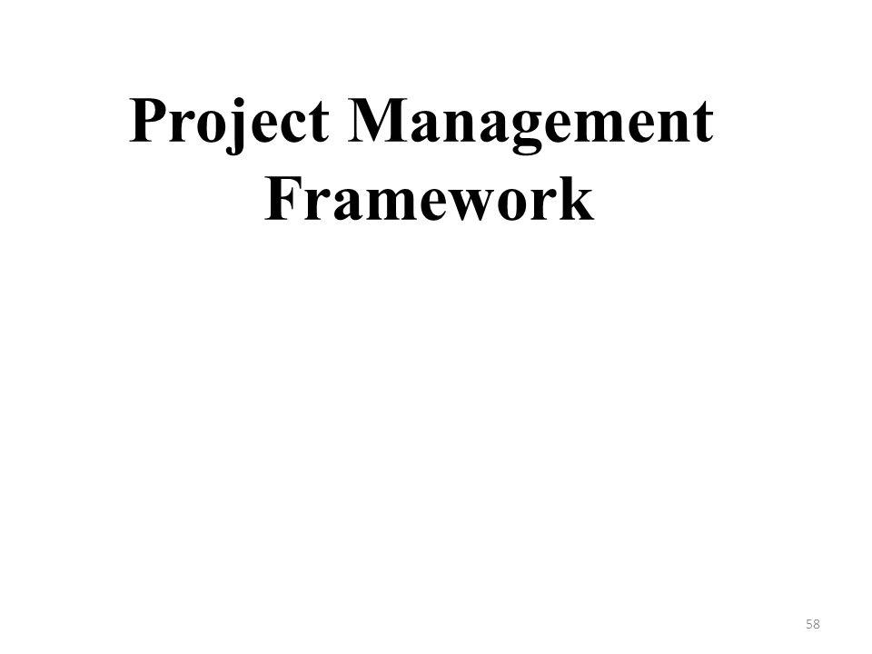 Project Management Framework 58