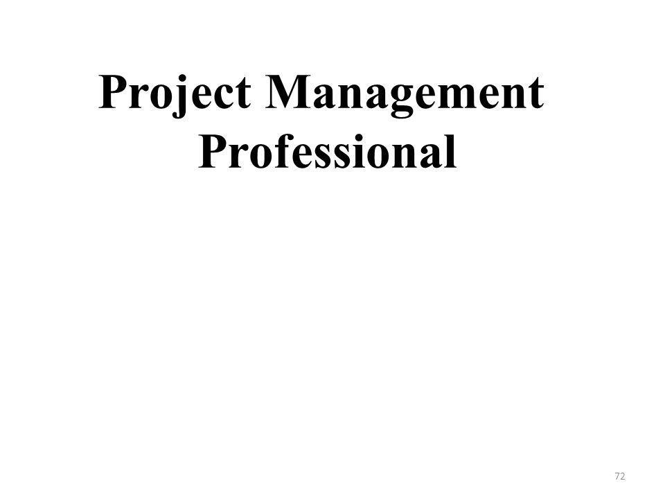 Project Management Professional 72