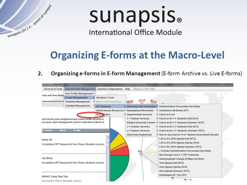 Organizing E-forms at the Macro-Level 2. Organizing e-forms in E-form Management (E-form Archive vs. Live E-forms)