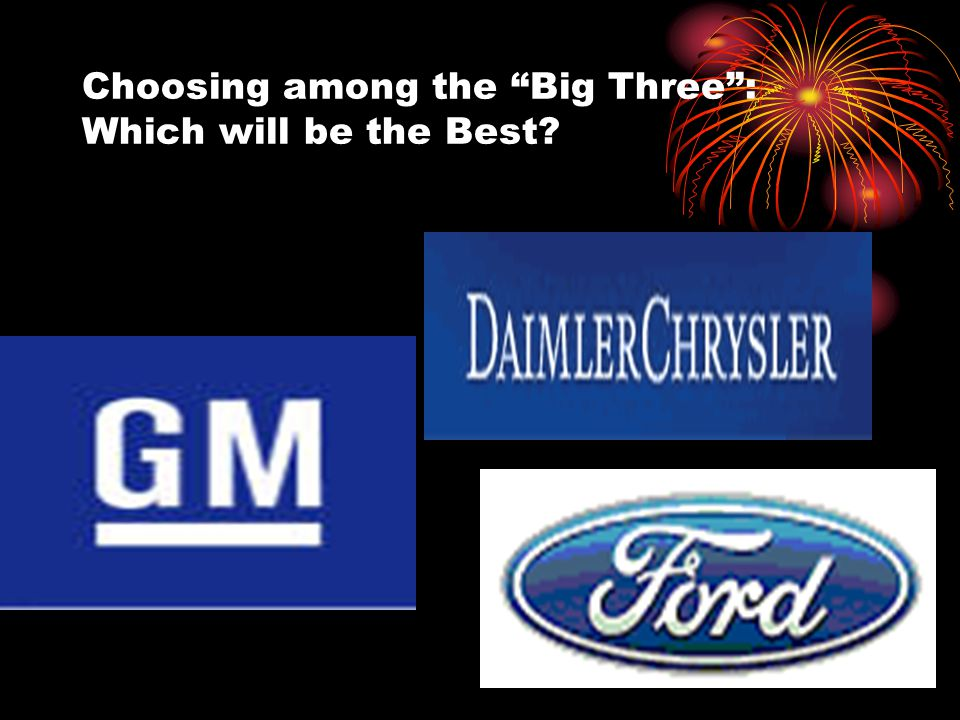 Choosing among the Big Three : Which will be the Best?
