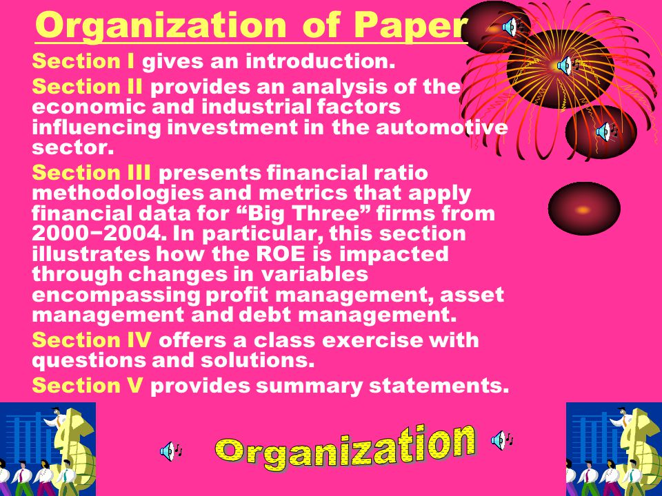 Teaching outcomes from the application include: (1) students will delve deeper into financial ratio analysis by examining and comparing accounting variables drawn from financial statements; (2) students will apply the DuPont Model and other valuation metrics in conjunction with economic and industrial indicators to make predictions about investment possibilities; and, (3) students will become familiar with prominent financial websites including those that feature analysts' predictions.