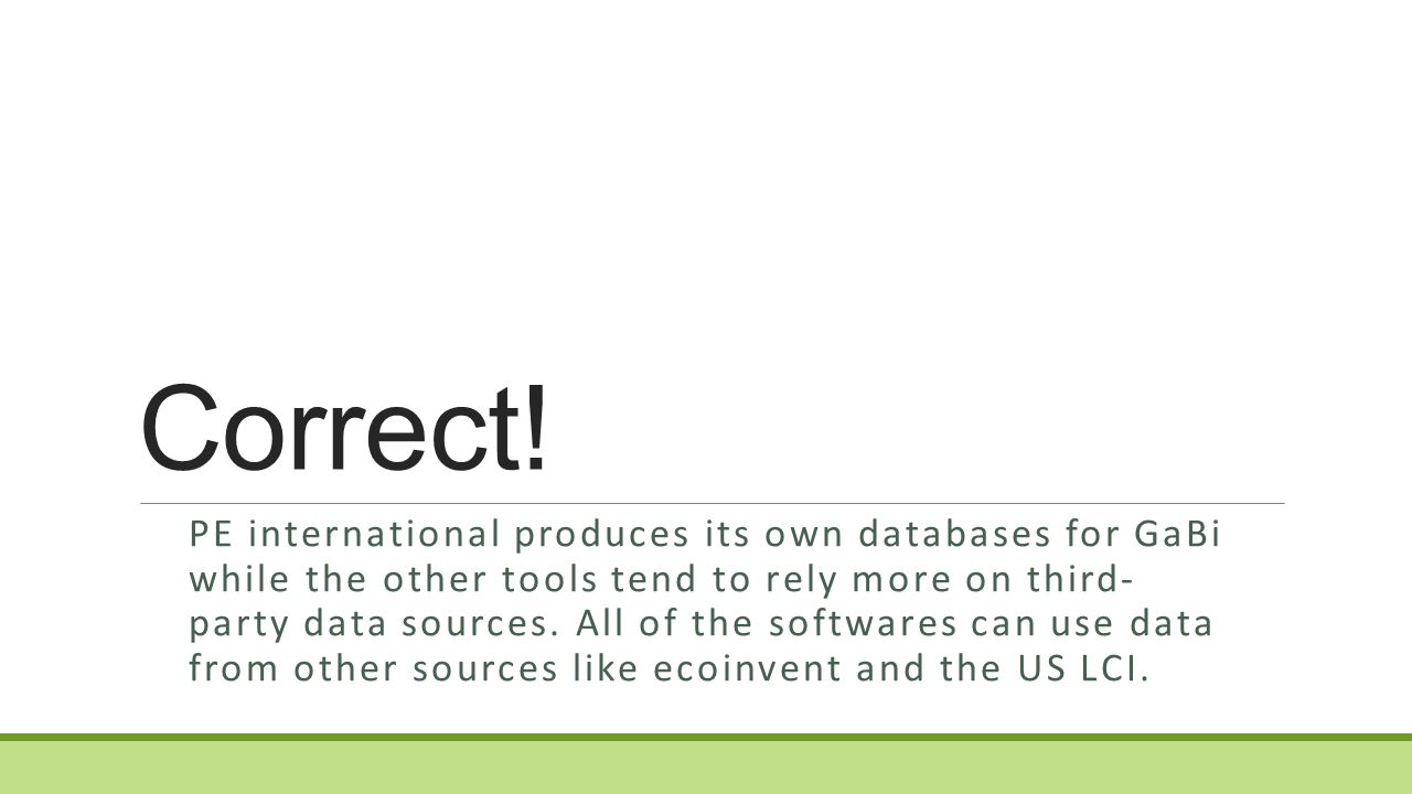 Which software tool produces and features their own database for their tool.
